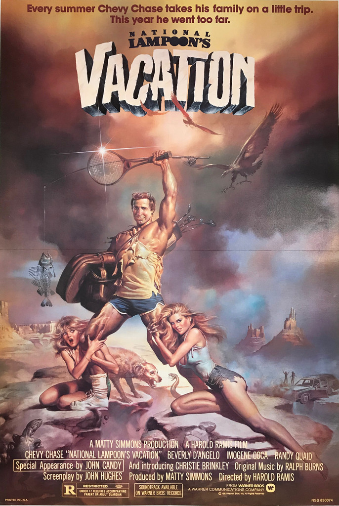 National Lampoons Vacation Original 1983 Studio Style NSS American 1-Sht. Movie Poster by Boris Vallejo