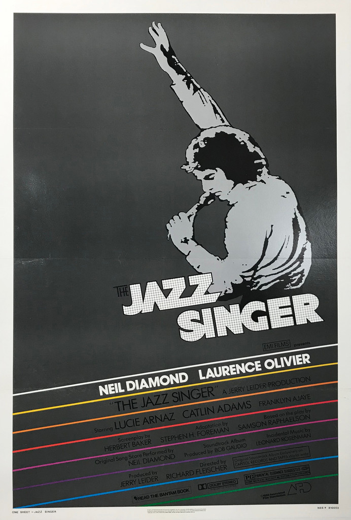 The Jazz Singer Original American 1-Sheet Movie Poster from 1980.