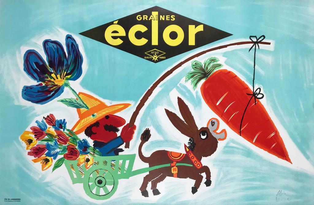 Graines Eclor Qualité  Original 1958 French Vintage Poster by A. Wienc