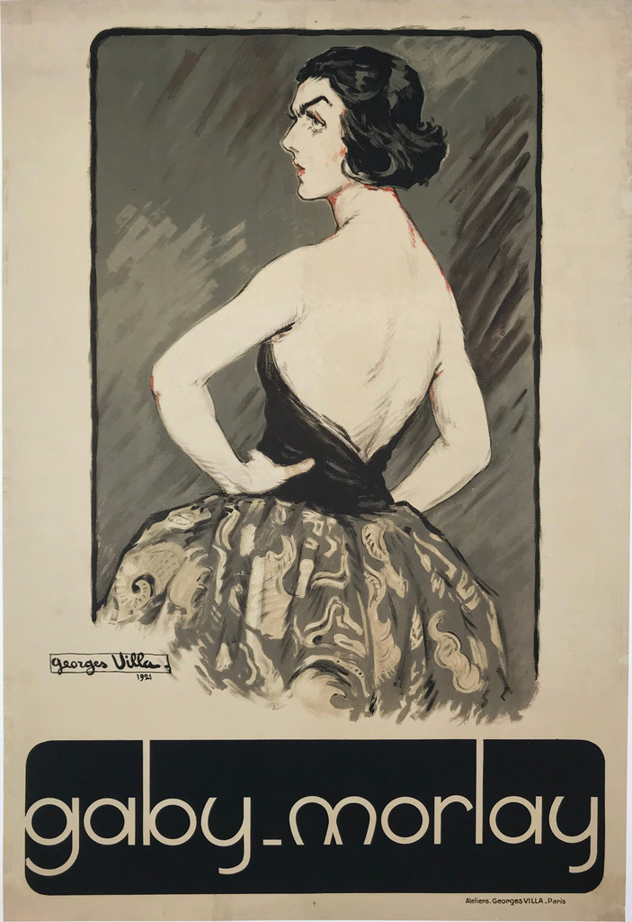 Gaby Morlay Original 1921 Vintage Theater Poster by Georges Villa.