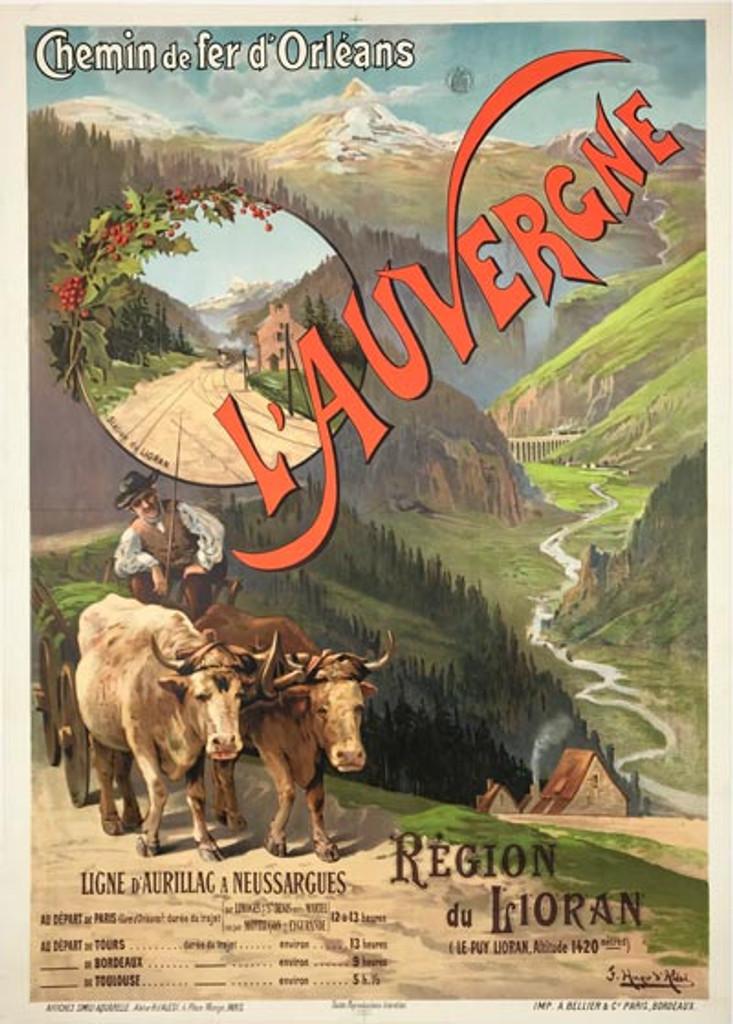 L'Auvergne Region du Lioran Poster