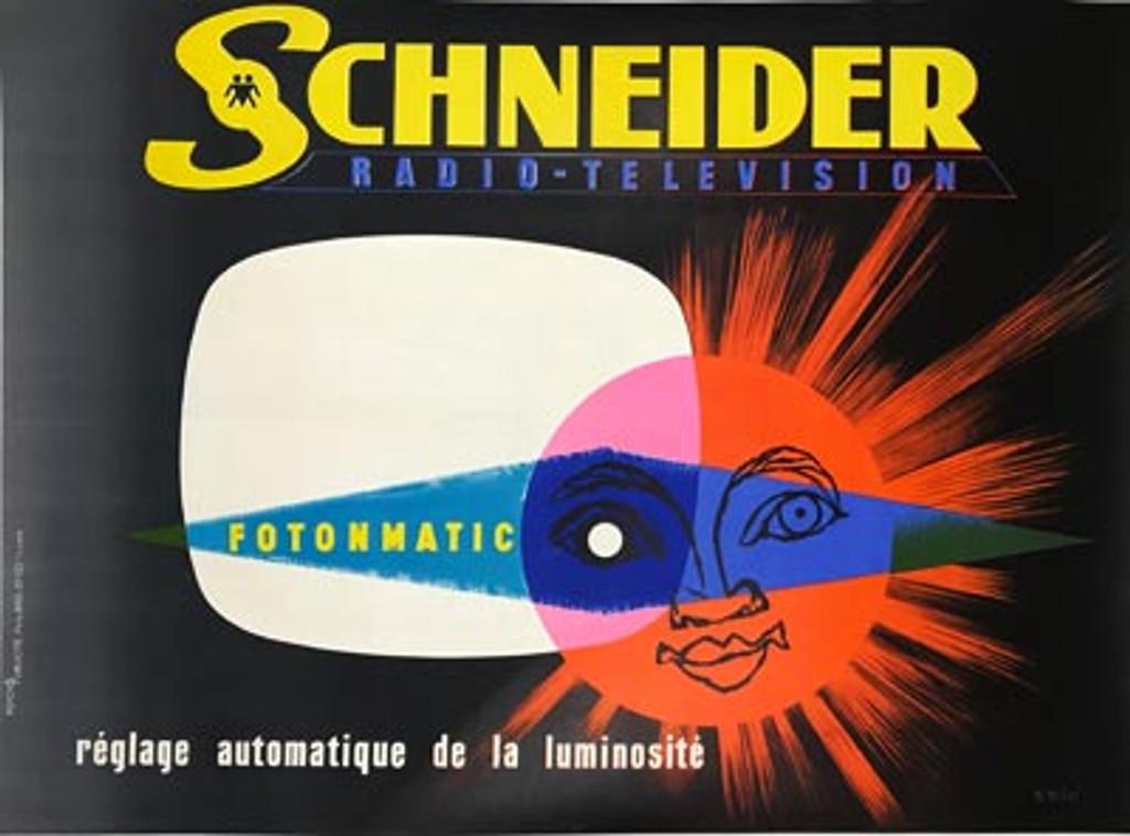 French Schneider Radio Television Poster