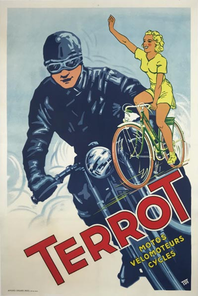 Terrot Motos Velomoteurs Cycles Poster