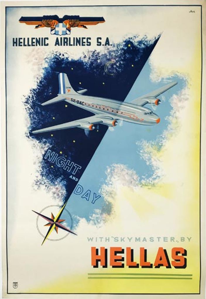 Hellenic Airlines S.A. Skymaster By Hellas Poster