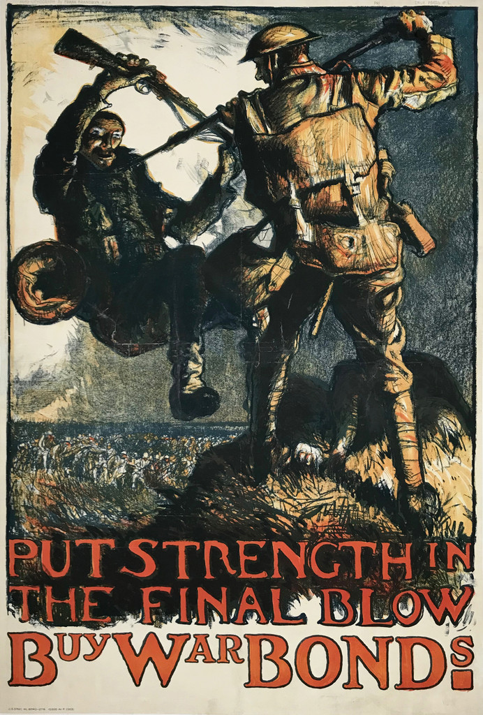 Put Strength In The Final Blow Buy War Bonds Original Vintage Poster