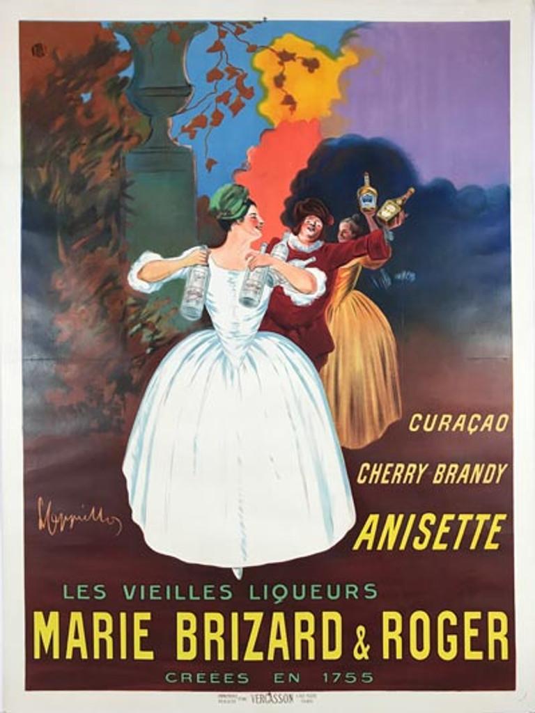 MARIE BRIZARD ET ROGER ANISETTE CHERRY BRANDY ET CURACAO Poster