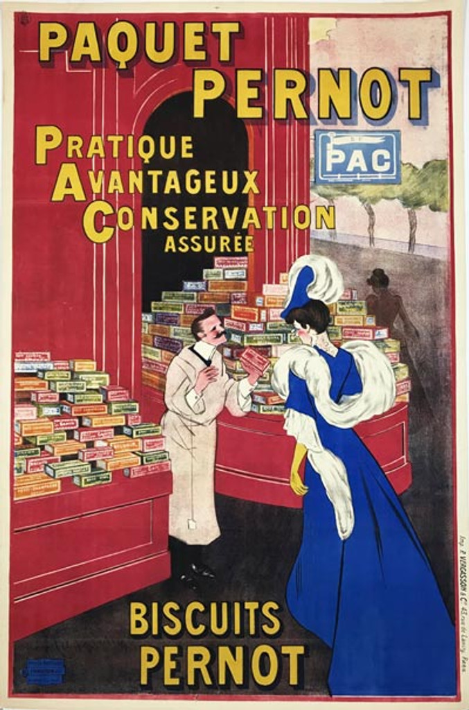 Paquet Pernot Biscuits Poster by Cappiello