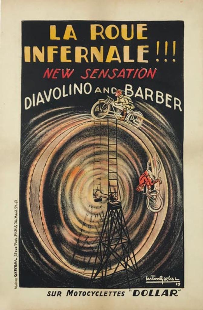 La Roue Infernale Motocyclettes Dollar poster