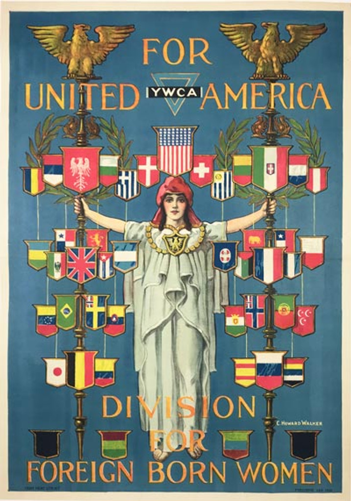 Y.W.C.A Division For Foreign Born Women For United America Poster