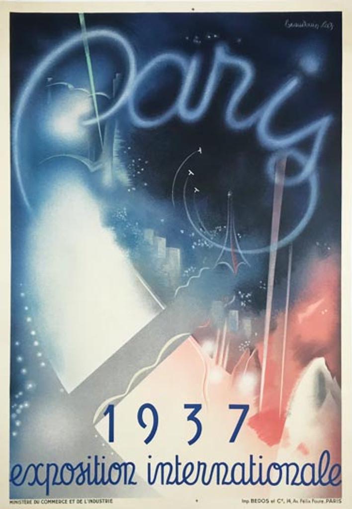 Paris 1937 Exposition Internationale original vintage poster by Beaudoin