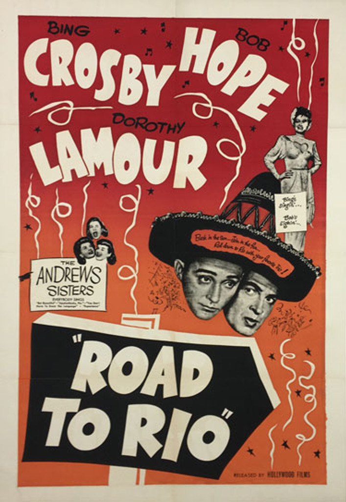 Road to Rio original movie poster from 1948 International release.