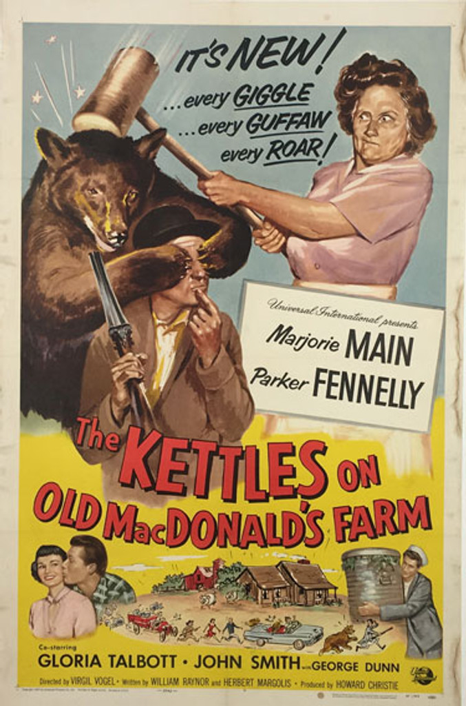 The Kettles on Old MacDonalds Farm original 1957 American movie poster.