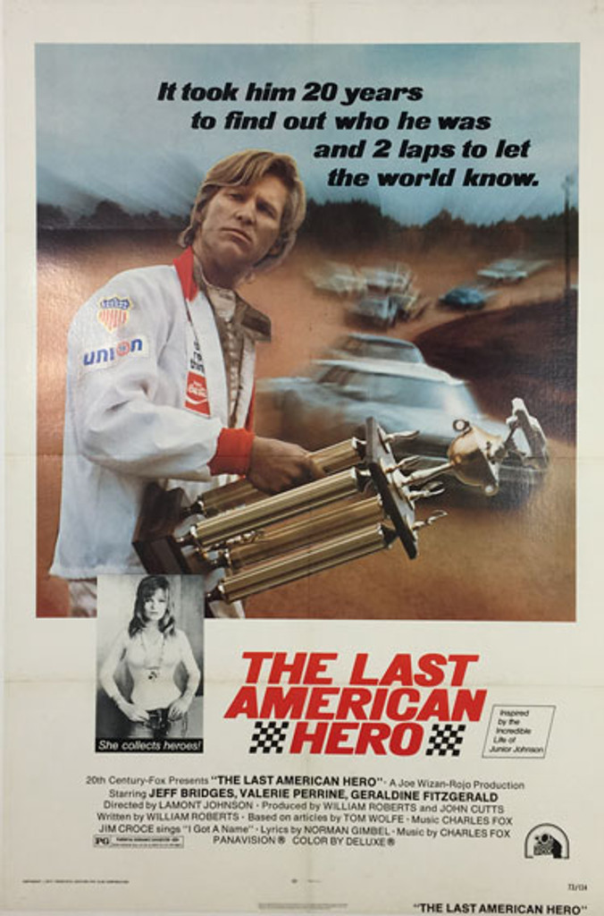 The Last American Hero original vintage theatrical one-sheet American movie poster from 1973.