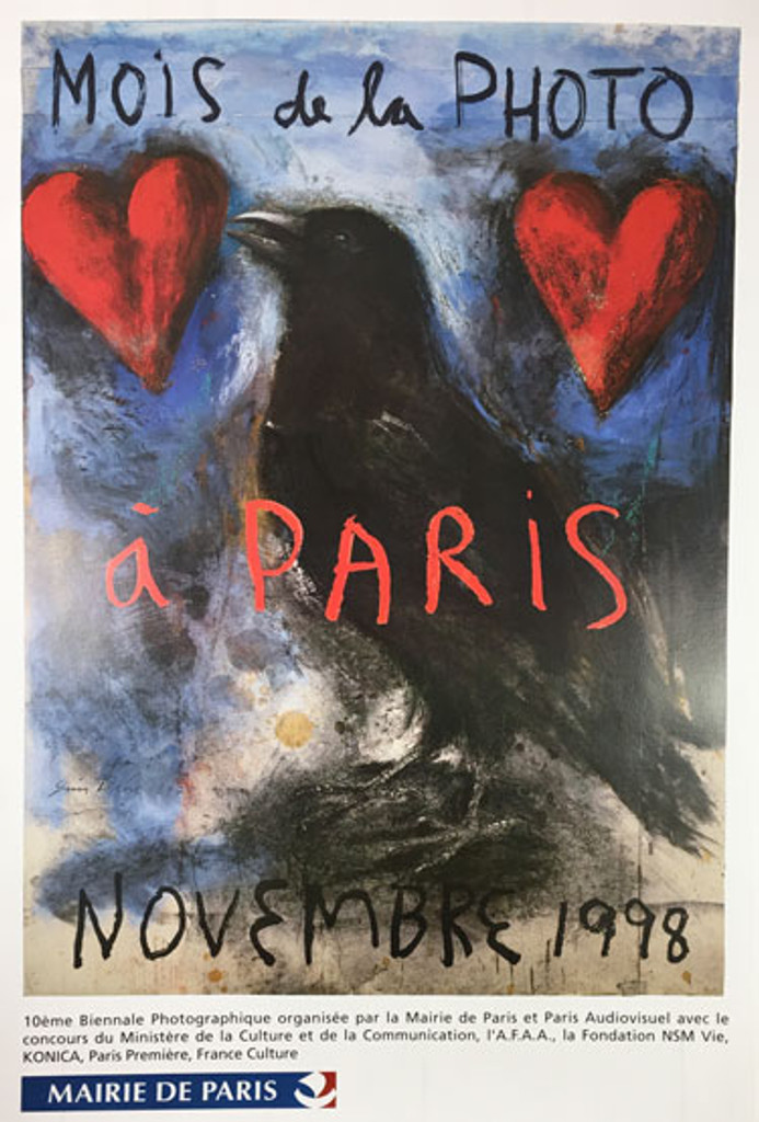1998 Jim Dine Mois de la Photo a Paris Exhibition original poster French offset lithograph.