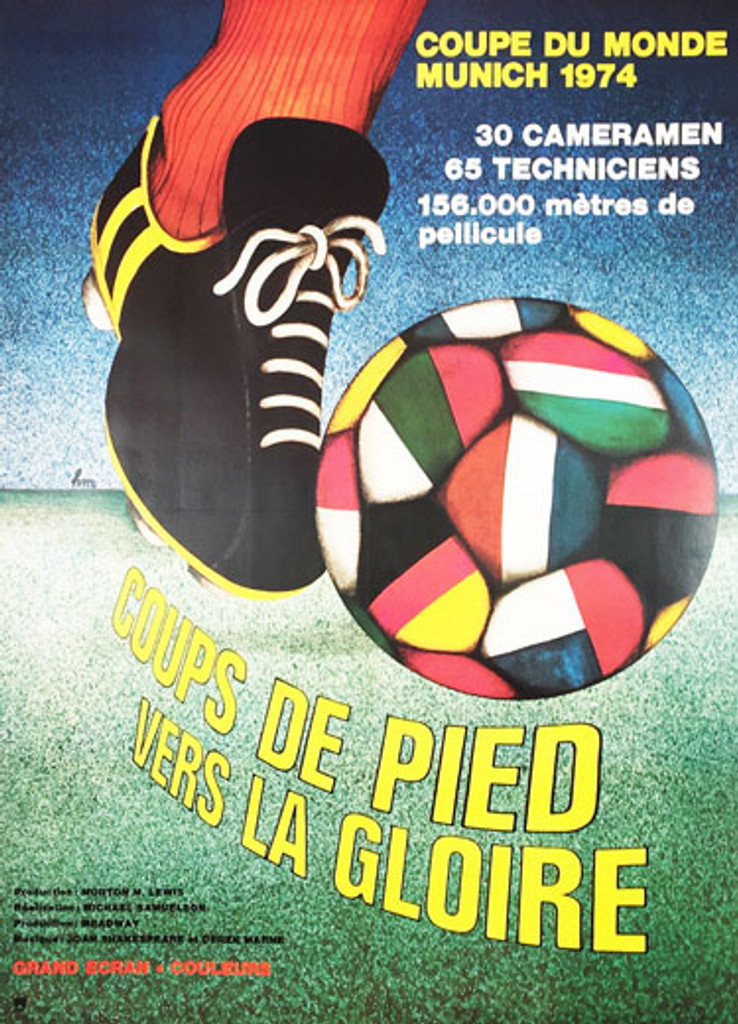 Coupe Du Monde Munich 1974 original vintage poster movie advertisement.