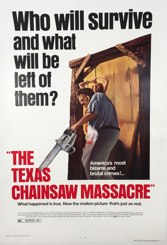 The Texas Chainsaw Massacre Who will survive and what will be left of them original 1980 American  movie poster.
