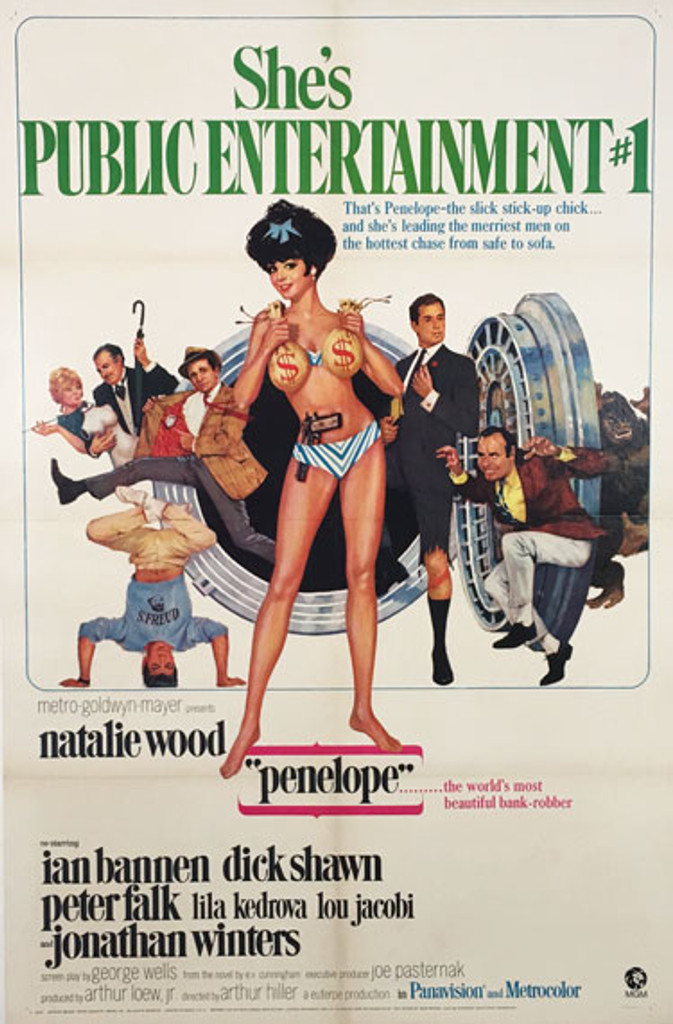 Penelope She is Public Entertainment Number 1 original vintage movie poster from 1966 by Maurice Thomas.