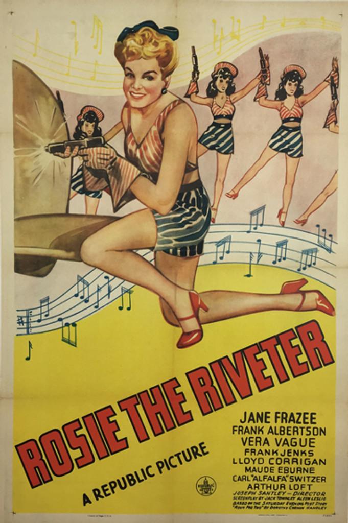 Rosie the Riveter original 1944 American vintage movie poster.