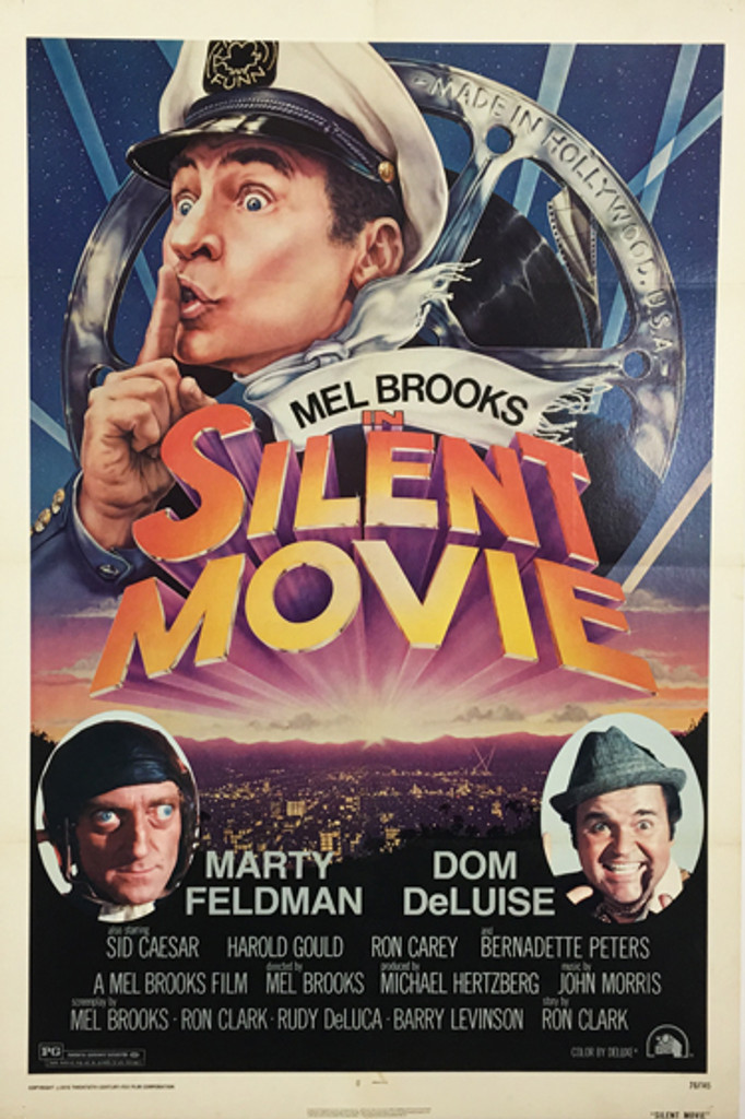Silent Movie with Mell Brooks, Marty Feldman and Dom DeLuise original vintage poster from 1976 by John Alvin.