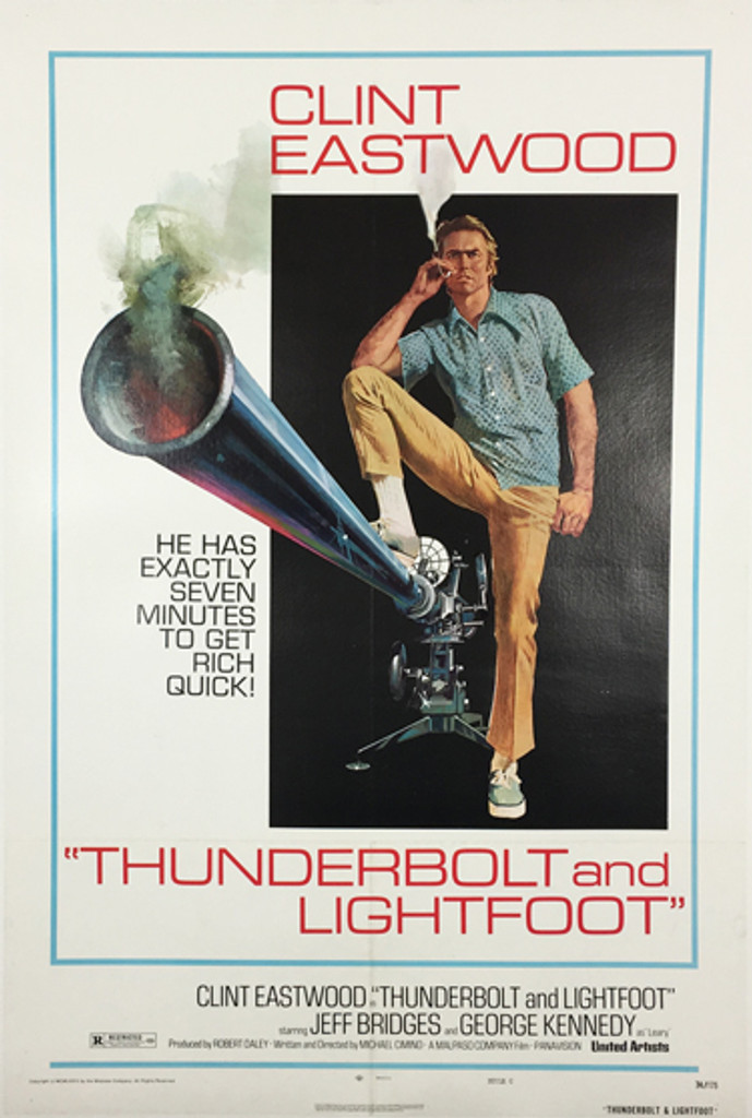 Thunderbolt and Lightfoot 1974 movie poster with Clint Eastwood original American cinema posters.