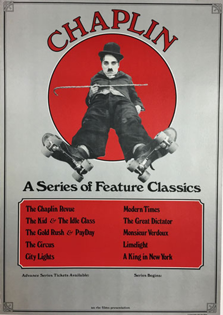 Chaplin A Series of Feature Classics original movie poster from 1973.