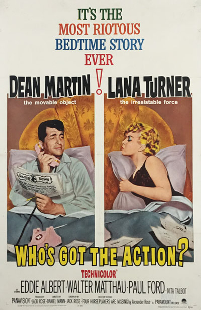 Who's got the action original American movie poster from 1962.