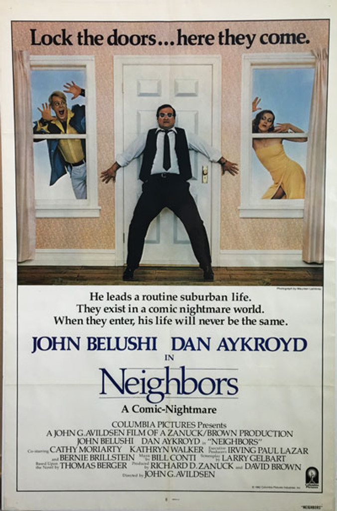 Neighbors original American 1982 movie poster Style A ....not the advance.