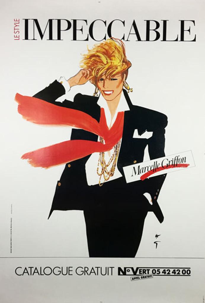 Le Style Impeccable Marcelle Griffon original poster by artist Rene Gruau.