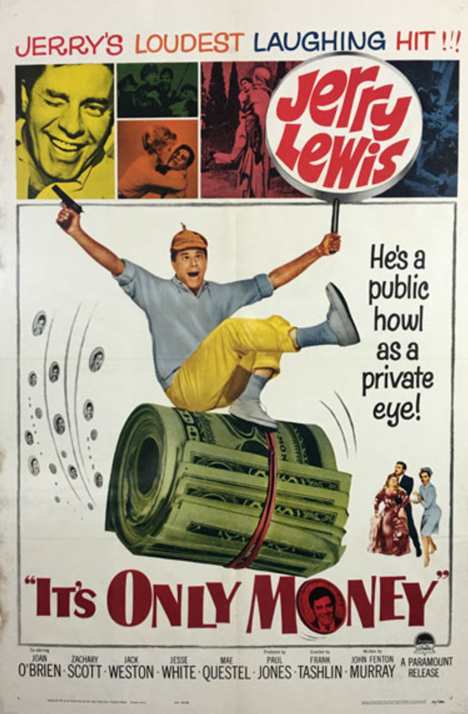 Its Only Money original American movie poster from 1962 USA. Antique Posters offers only original vintage posters.