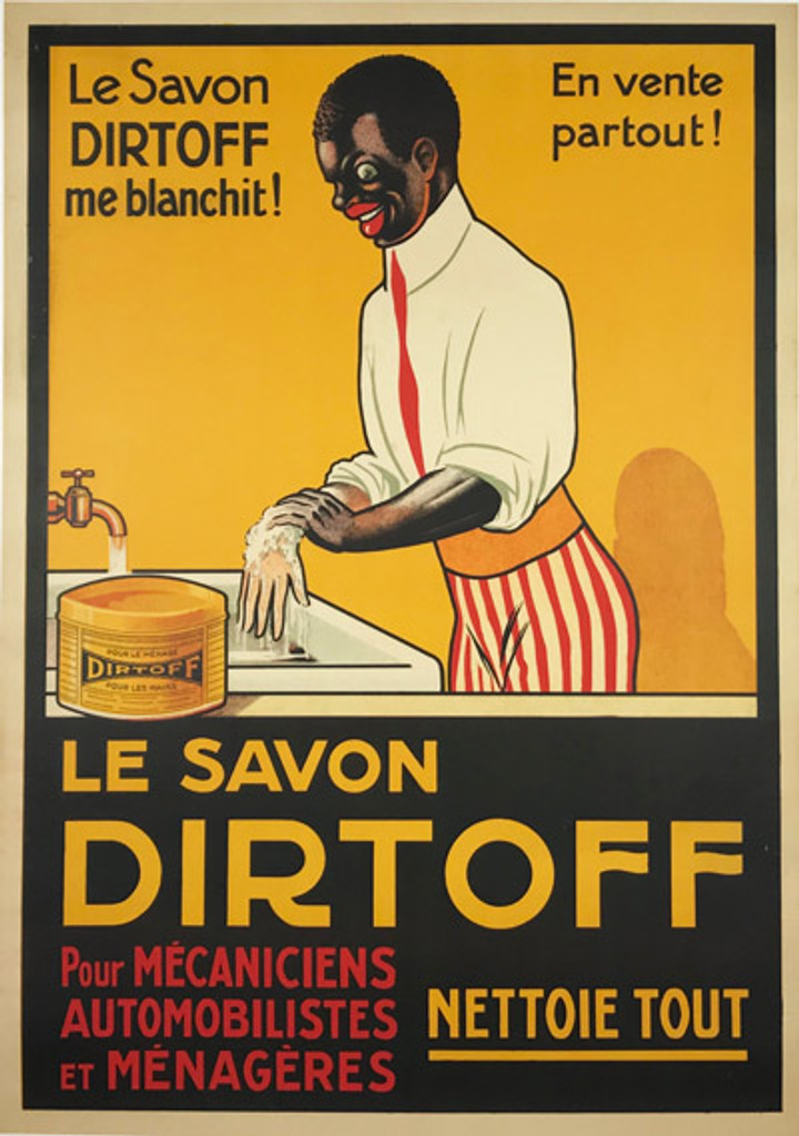 Le Savon Dirtoff original vintage poster from 1930 France. French stone lithograph advertisement for soap.