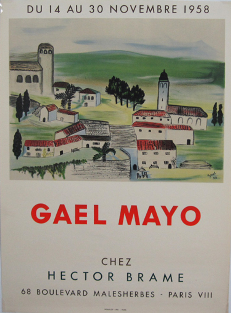 Gael Mayo Chez Hector Brame original vintage poster from 1958 France by artist Mourlot.