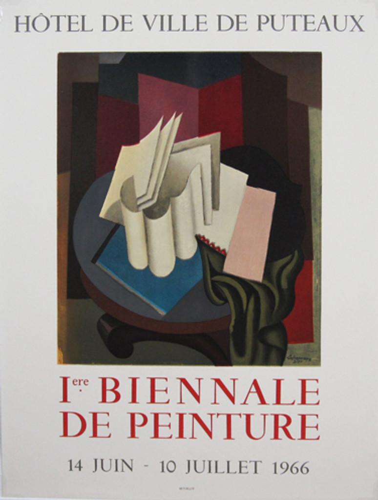 Biennale De Peinture Exposition Lafresnaye original vintage poster from 1966 by Mourlot.