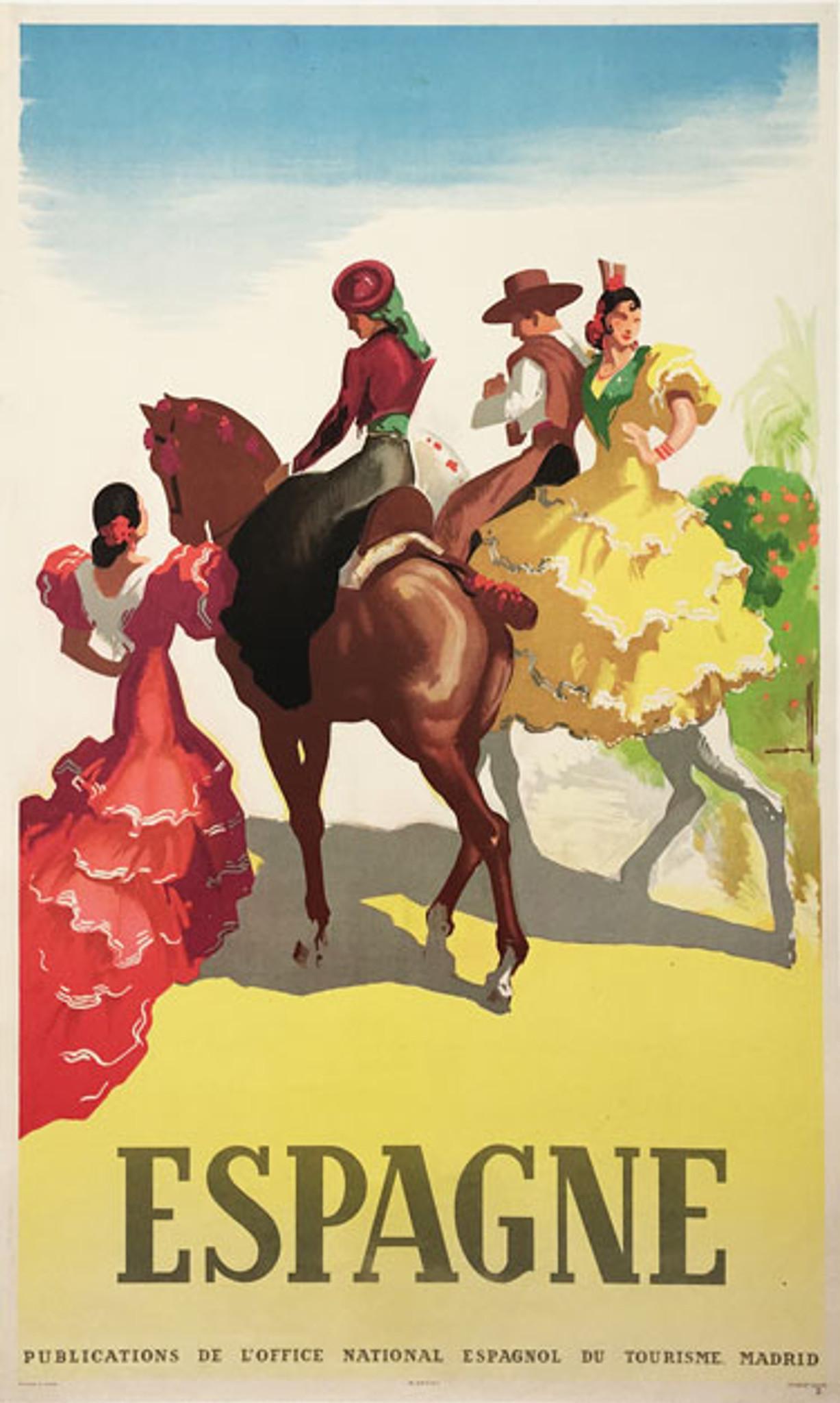 Espagne Original Vintage Travel Poster Morell