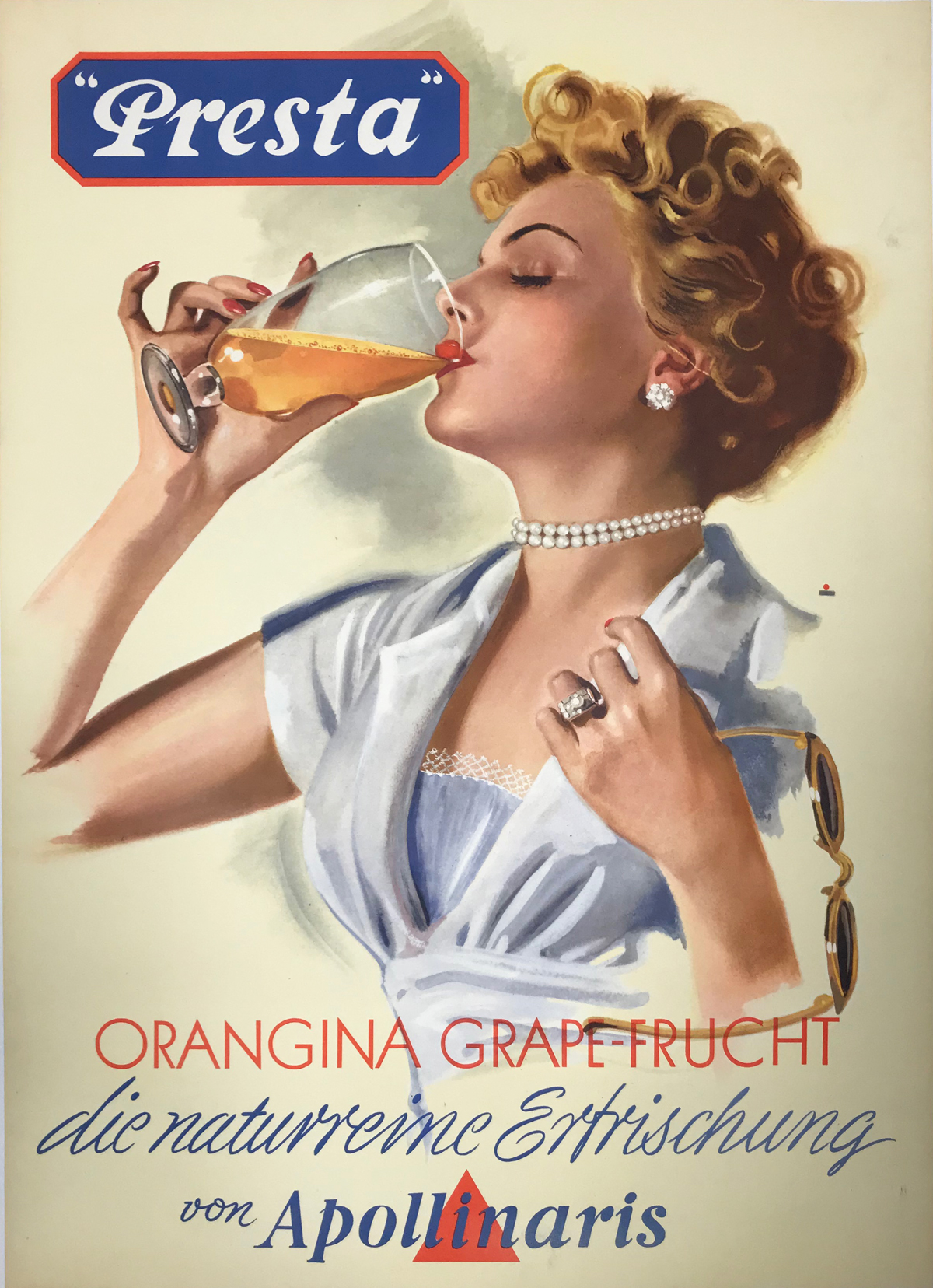 Original vintage poster F.PERINO ITALY FRUITS GRAPES 1951