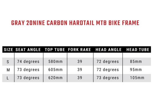 MTB 20Nine Hardtail Frame set (DEMO)