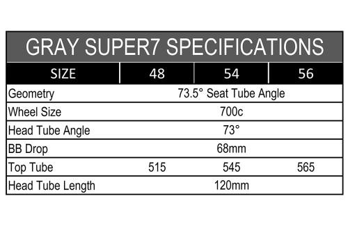 Super7 Road Frame Set