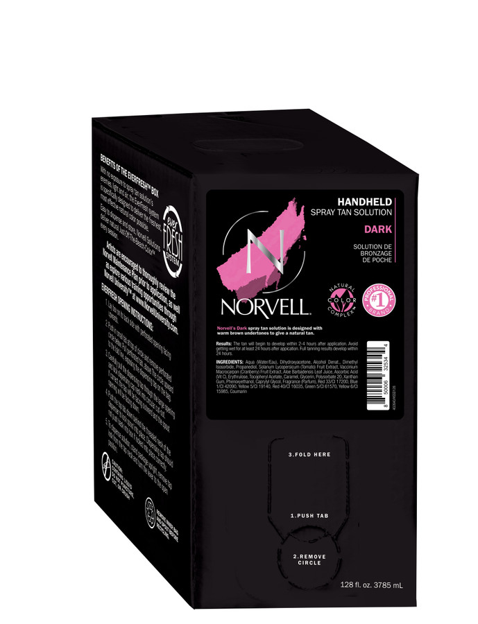 Norvell Dark Premium Airbrush Spray Tan Solution, 128 oz Gallon