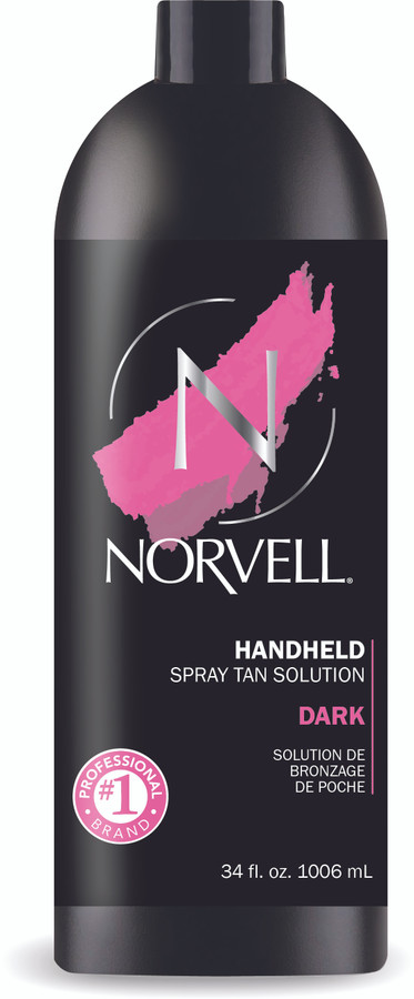Norvell Dark Premium Airbrush Spray Tan Solution, 34 oz
