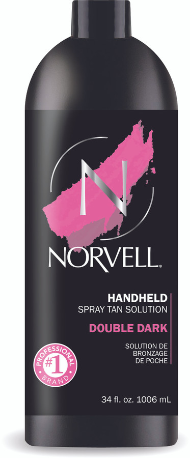 Norvell Double Dark Premium Airbrush Spray Tan Solution, 34 oz