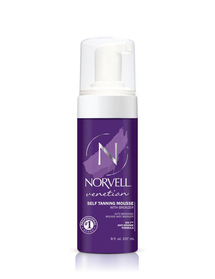 Norvell Venetian Self Tanning Mousse w/Bronzers, 8 oz
