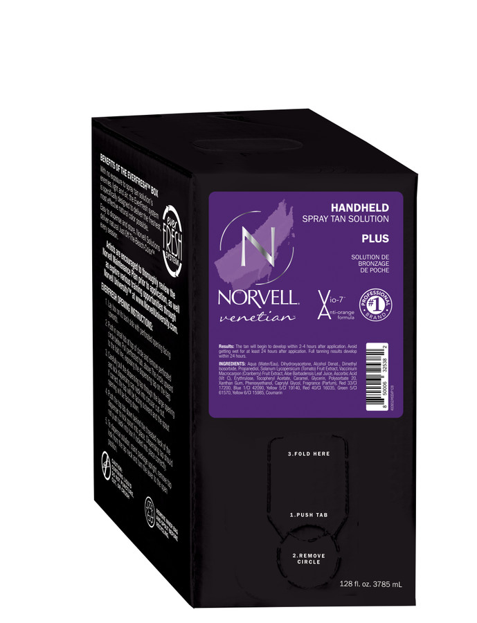 Norvell Venetian Plus Sunless Spray Tan Solution, 128 oz Gallon