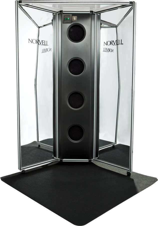 Norvell Overspray Reduction Booth - Mirrored Panels