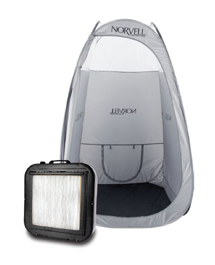 Norvell Jumbo Mobile Spray Room Pop-Up Tent & Fan Bundle