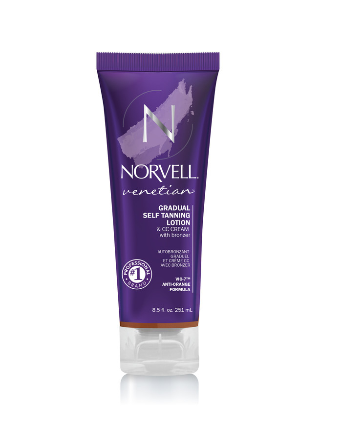 Norvell Venetian Gradual Self Tanning Lotion & CC Cream with Bronzer, 8.5 oz