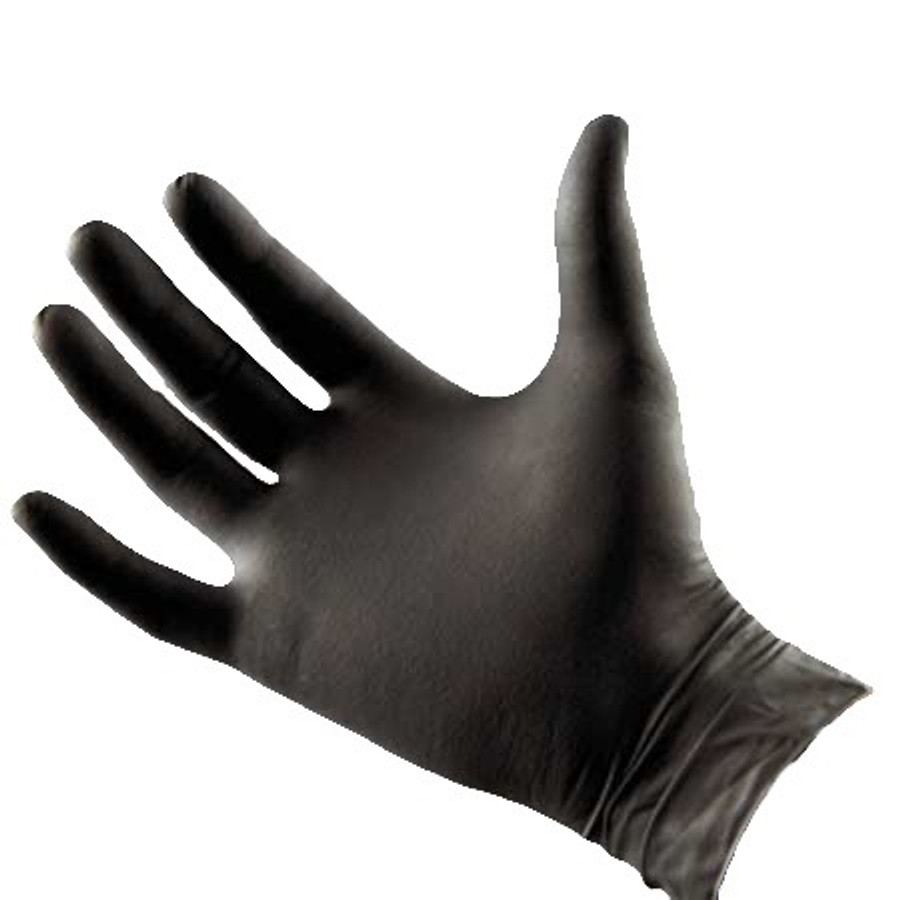Black Latex Free Nitrile Spray Tan Technician's Gloves, 100-Count