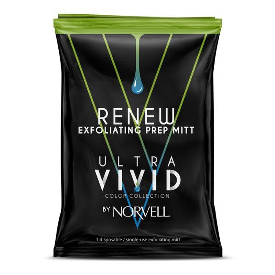 Norvell Ultra Vivid Color Collection Renew Exfoliating Prep Mitt, Single