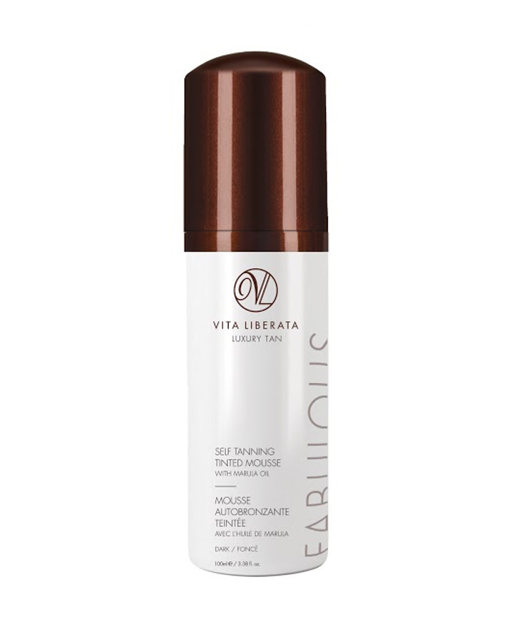 Vita Liberata Fabulous Self Tanning Tinted Mousse Dark, 3.38 oz