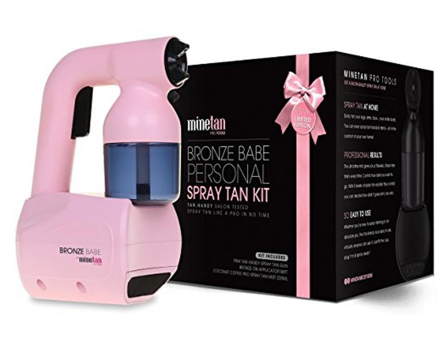 MineTan Bronze Babe Personal Spray Tan Kit, Pink