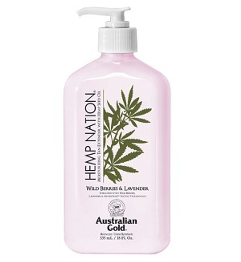 Australian Gold Hemp Nation Wild Berries & Lavender Moisturizer Tan Extender, 18 oz