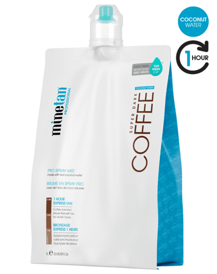 MineTan Coffee Coconut Water Pro Mist, 33.8 oz